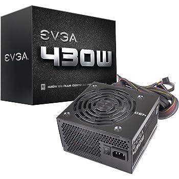 EVGA 430 W1, 80+ WHITE 430W, 3 Year Warranty, Power Supply 100-W1-0430-KR, Black