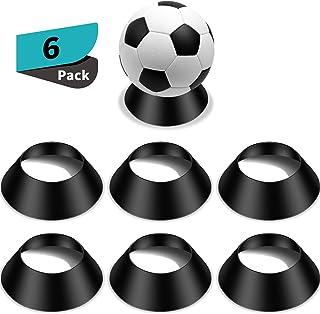 Memorabilia Palla Stand Piedistallo di Palla Display Porta Palla Stand Porta Calcio per Pallacanestro Football Pallavolo Softball Bowling ODOOKON 3 Pezzi di Base in Acrilico Palla Stand