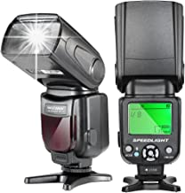 Neewer NW-561 LCD Display Speedlite Flash for Canon & Nikon DSLR Cameras,Such as Canon EOS 1100D 550D,5D Mark II III and Nikon D7200 D7100 D7000 and Other DSLR Cameras with Standard Hot Shoe