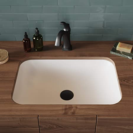 Kraus Natura - Fregadero para baño, Moderno, Rectangular, Undermount