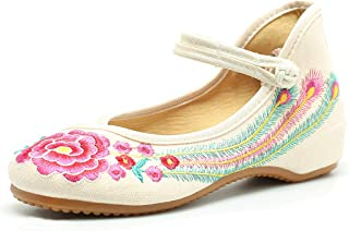 Embroidered Shoes Chinese Women's Embroidery Flowers Style Loafers Comfortable Ballet Flats