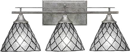 (テック) Taucet Lighting アップタウン3バスバー 7インチ ダイヤモンドアイスティファニーグラス