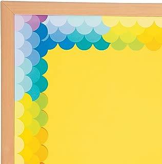 Fun Express - Fish Scale Rainbow Scallops Border - Educational - Classroom Decorations - Bulletin Board Decor - 12 Pieces