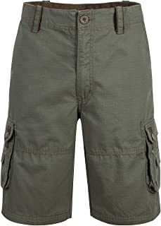 MOHEEN Mens Casual Cargo Shorts Relaxed Fit Cotton Solid Multi-Pocket Lightweight Cargo Shorts Outdoor