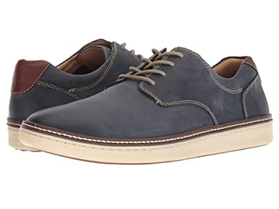 Johnston & Murphy McGuffey Casual Plain Toe Sneaker (Navy Nubuck) Men