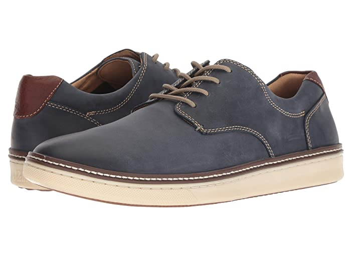 Johnston and Murphy  McGuffey Casual Plain Toe Sneaker (Navy Nubuck) Mens Lace up casual Shoes