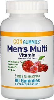California Gold Nutrition Men's Multi Vitamin Gummies, No Gelatin, No Gluten, Mixed Berry and Fruit Flavor, 90 Gummies