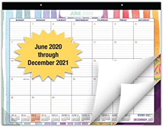 "Desk Calendar 2020-2021: Large Monthly Pages - 22""x17"" - Runs from June 2020 Through December 2021 - Desk/Wall Calendar ca..."
