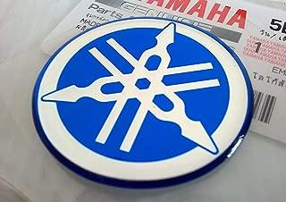 Yamaha 5LN-F313B-09-BU - Genuine 40MM Diameter Yamaha Tuning Fork Decal Sticker Emblem Logo Blue Raised Domed Gel Resin Self Adhesive Motorcycle / Jet Ski / ATV / Snowmobile