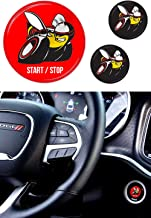 Scat Pack Starter Button Decal Overlay Compatible with 2011-2014 & 2015-2019 Dodge Charger Scatpack | 3D Domed Red SRT Style Start Stop Sticker Emblem | Push to Start Button Badge Cover Accessories