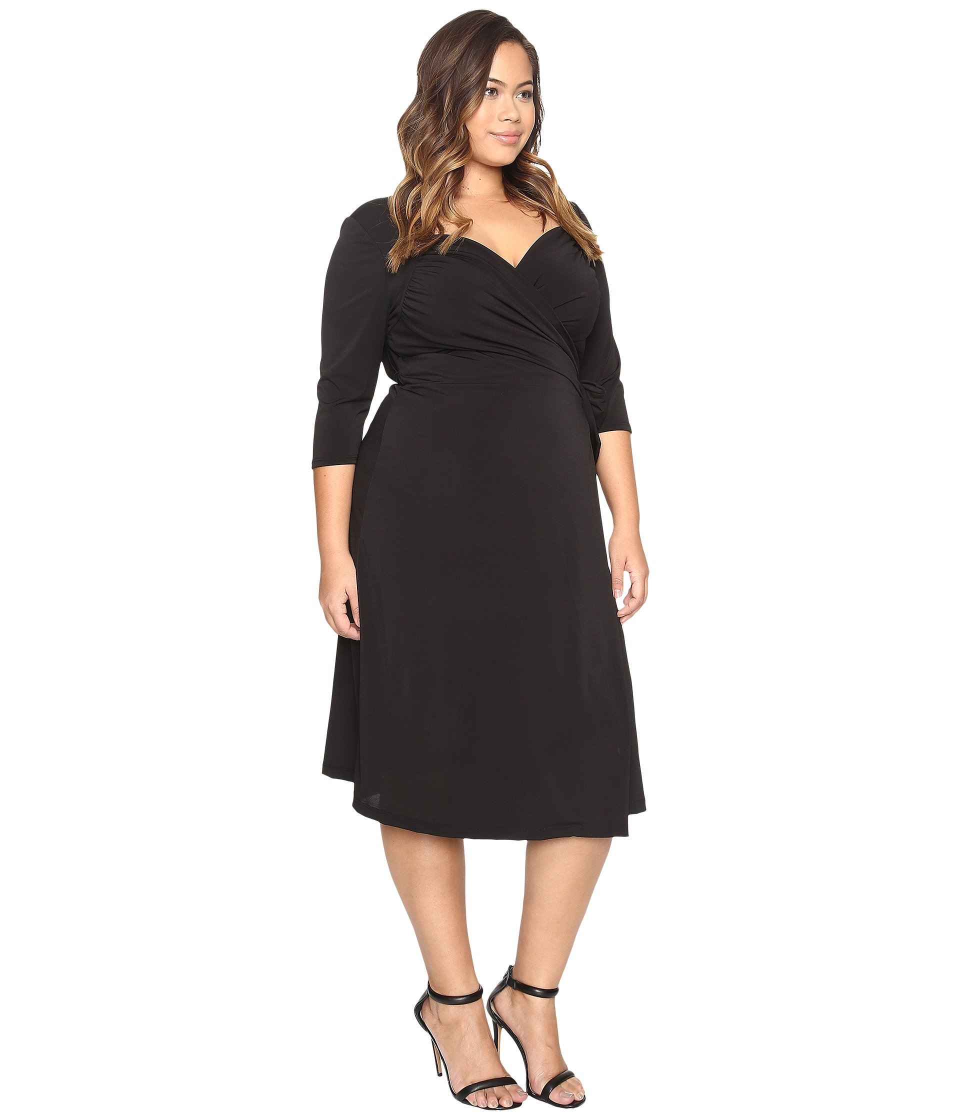 Kiyonna black wrap dress