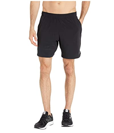 New Balance Fortitech 7 2-in-1 Shorts (Black/Black) Men