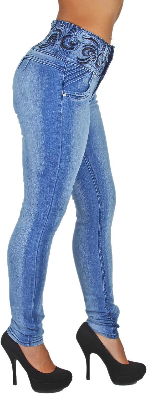 Plus/Junior Size Mid Waist Colombian Design Butt Lift Skinny Jeans