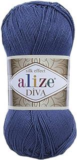 Alize Diva Hand Knitting Yarn Collections (Indigo)