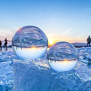 ESMART Bola de Cristal 80mm, K9 Bola de Cristal para Fotografía, Bola Cristal Advinación con Base, Usos como Regalos, Feng...