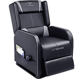Vitesse Gaming Recliner Chair Racing Style Single Ergonomic Lounge Sofa Modern PU Leather Reclining Home Theater Seat for ...