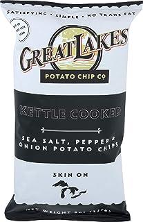Great Lakes Potato Chips, Chip Potato Sea Salt Pepper Onion, 8 Ounce
