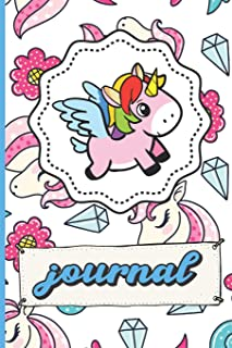 Pink Unicorns Diamonds Hearts And Flowers Journal: Funny Cute Notebook For Girls and Boys of All Ages. Great Gag Gift or Surprise Present for School, ... Anniversary, Graduation and During Holidays