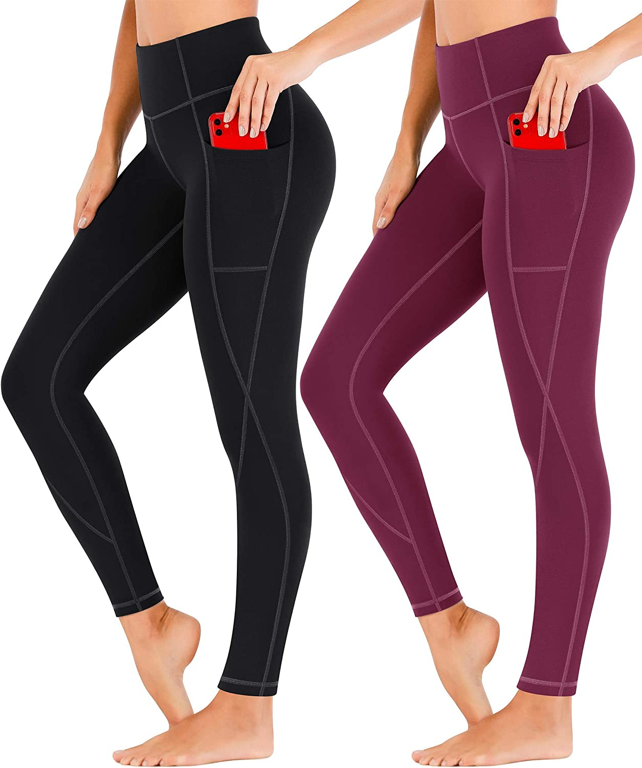 Heathyoga Yoga Pants for Women Waisted with Legging High Cheap Limited time trial price mail order shopping Pockets