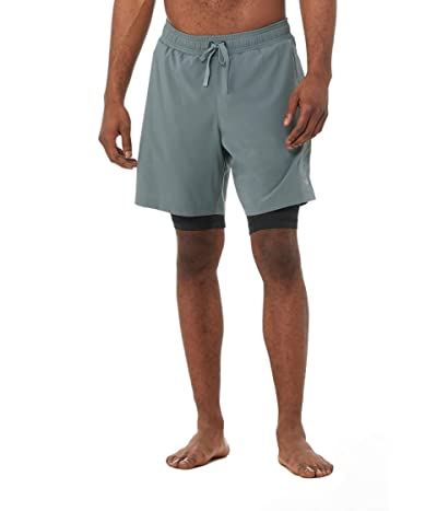 ALO Unity 2-in-1 Shorts (Slate/Black) Men