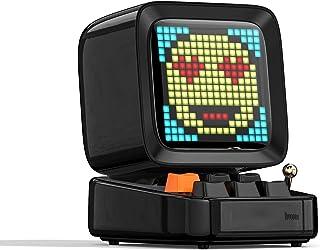 MJPA Retro Pixel Art Bluetooth Portable Speaker Alarm Clock DIY LED Screen by APP Electronic Gadget Gift Home Decoration (...
