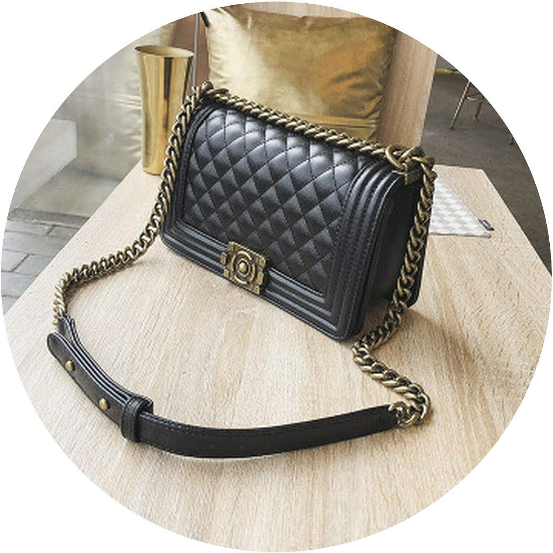 Classic women shoulder bag genuine diamond Purses,Black