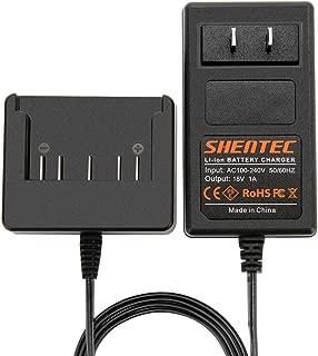 Shentec 18V Lithium-Ion Slide-in Style Battery Charger Compatible with Bosch 18V BAT609 BAT609G BAT618 BAT618G BAT619 BAT619G BAT610G 2607336169 2607336170 2607336236 2607336091 2607336092