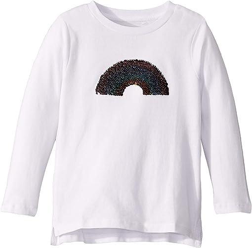 White/Reverse Sequin Rainbow