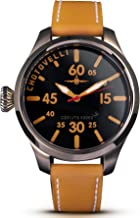 Chotovelli Men's Aviator Pilot Watch Sapphire Waterproof Italian Calf Band 52.20