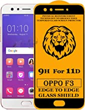 Xester Screen Protector for Oppo F3,Tempered Glass Edge to Edge Full Screen Coverage with Easy installaition kit -[1 Pack]