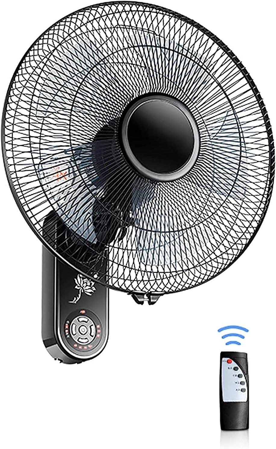 HTDHS Ventilador eléctrico montado en la pared: ventilador eléctrico oscilante de refrigeración con control remoto - 16 pulgadas 220V Ahorro de energía y salud - Adecuado para dormitorio, oficina, gim