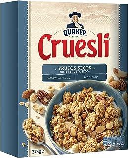 Quaker Cruesli Copos de Cereales Crujientes con 4 Clases de Frutos Secos - 375 g