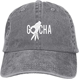 Qialia Gotcha Finger Unisex Adult Cap Adjustable Cowboys Hats Baseball Cap Fun Casquette Cap Black