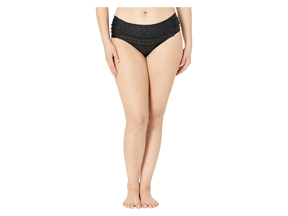 BECCA by Rebecca Virtue Plus Size Color Play Hipster Bottoms (Black) Women