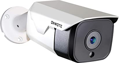 ?Onvif? ONWOTE 5MP HD IP PoE Camera Outdoor, Hikvision Compatible, 5 Megapixels 2592x 1944P Ethernet Security Camera, 100ft Night Vision, IP65 Waterproof, Mobile View, Motion Alert, Solid& Durable