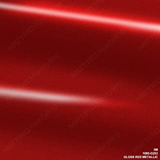 3M 1080 G203 GLOSS RED METALLIC 3in x 5in (SAMPLE SIZE) Car Wrap Vinyl Film