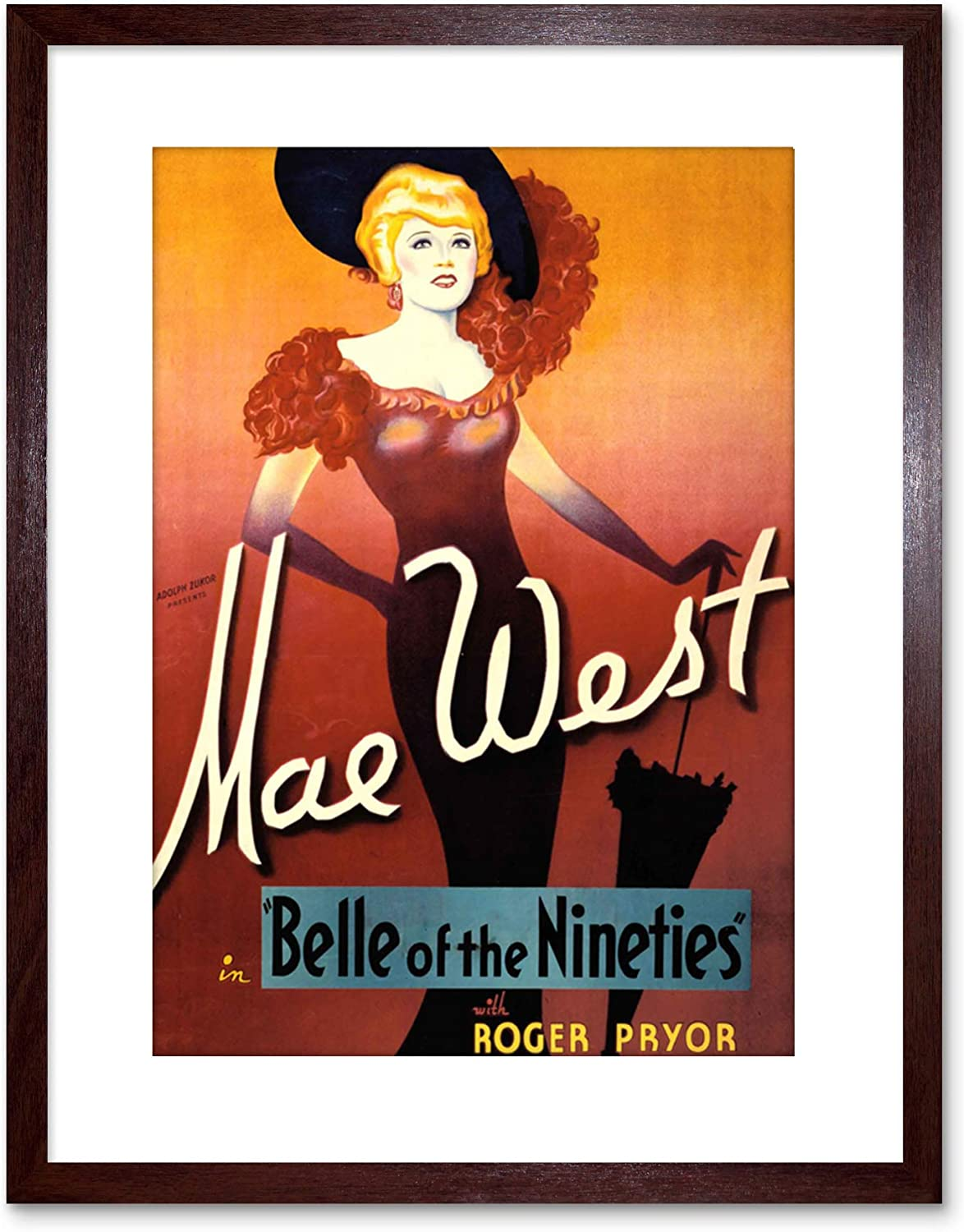 Vintage Movie  poster reproduction. Mae West Belle of The Nineties