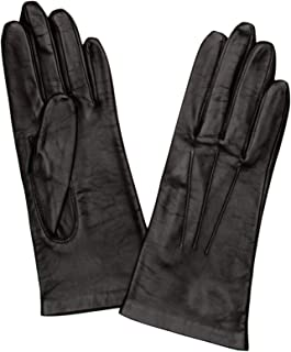 Dents Womens Elizabeth Silk Lined Smooth Grain Leather Gloves - Mocca