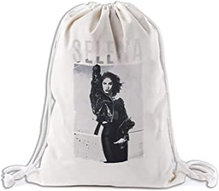 Large Reusable Canvas Drawstring Fabric Bag for Shopping,Laundry,Grocery,Vegetable,Gift & More,Washable 13.5 x 15 Inch Cloth
