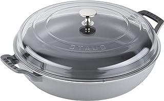 Staub Cast Iron 3.5-qt Braiser with Glass Lid - Graphite Grey