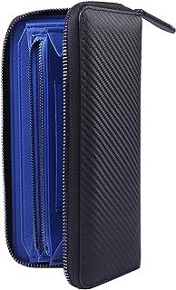 BaronsMate [公式] 長財布 ラウンドファスナー カーボンレザー メンズ 大容量 小銭入 化粧箱付 スキミング防止