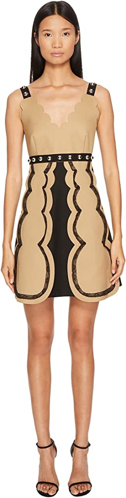 RED VALENTINO - Tricotine Tech Dress