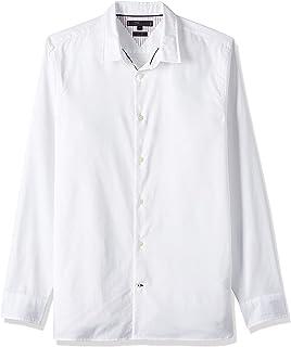 قميص دوبي بقصة ضيقة وازرار متباعدة للرجال من تومي هيلفجر