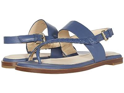 Cole Haan G.OS Anica Thong Sandal (Vintage Indigo Leather Gold) Women