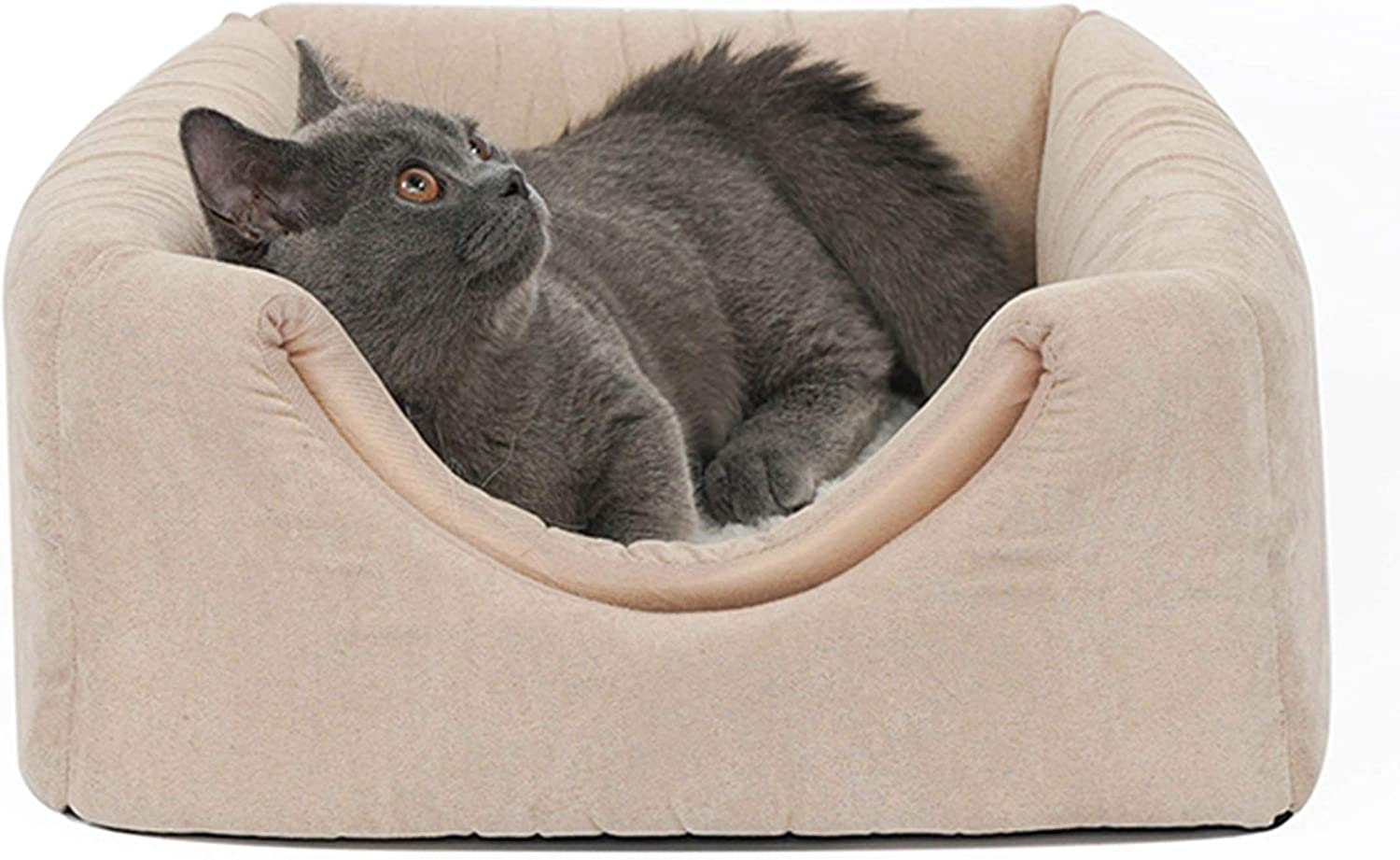 HHCWW Four seasons universal removable and washable folding cat house cat supplies winter warm closed net red cat litter,b