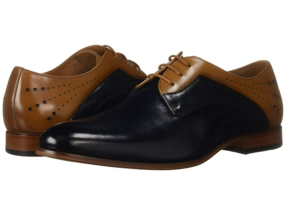 Stacy Adams Savion Plain Toe Oxford (Navy/Tan) Men