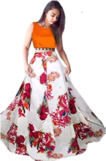 Mad Over Shopping Lehenga Choli Digital Print Lengha Skirt Women's Ethnic Wedding Party Wear