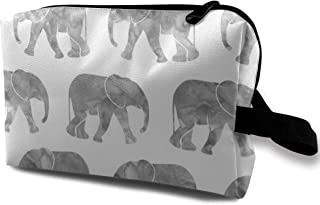 Baby Elephants Grey Travel Makeup Cute Cosmetic Case Organizer Portable Storage Bag for Women