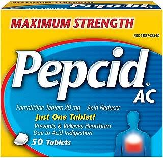 Pepcid AC Tablets Maximum Acid Reducer 50 ea ( Pack of 2)