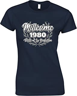 Tim And Ted French Womens Tshirt Millsime 1980 Vieilli La Perfection